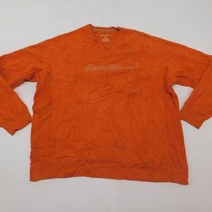 Eddie Bauer 2XL Orange Crewneck Sweatshirt  Cotton